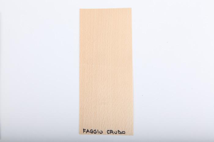 Bordo in legno faggio-crudo essenza