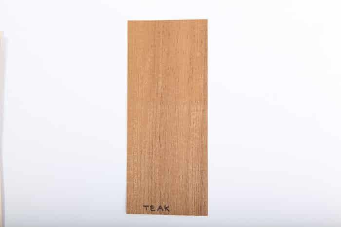 Bordo in legno teak essenza