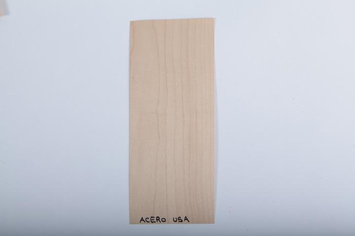 Bordo in legno acero-usa essenza