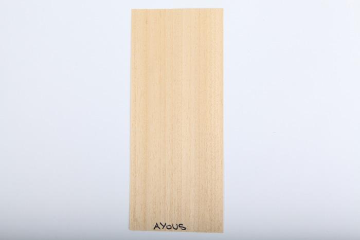 Bordo in legno ayous essenza