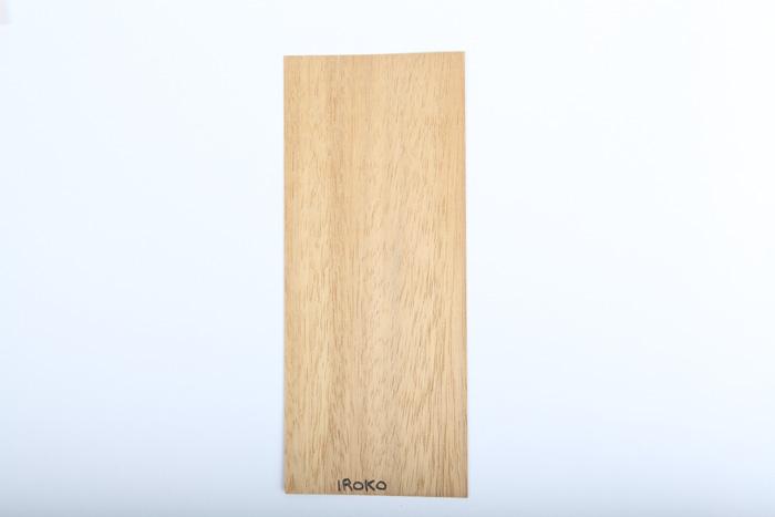 Bordo in legno iroko essenza